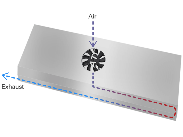 Dimmable SunPower active cooling system illustration